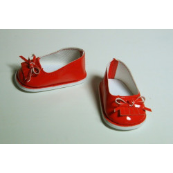 Туфли лаковые красные, длина стопы 7см. Кукольная обувь