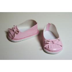 Туфли лаковые розовые, длина стопы 7см. Кукольная обувь