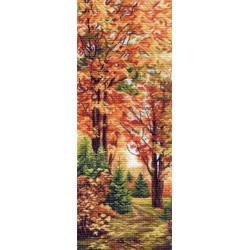 Осенняя пора, канва с рисунком для вышивки нитками 40х90см. Матрёнин посад