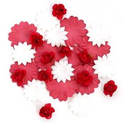 Цветы бумажные красные 30шт. MAGIC HOBBY
