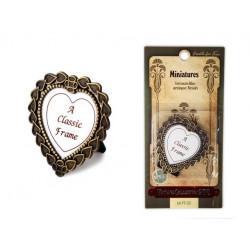 Рамочка для фото металлическая Винтаж сердце