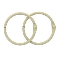 Слоновая кость, кольца для альбома 40 мм, 2шт