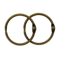 Состаренная медь, кольца для альбома 35 мм, 2шт