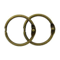 Состаренная медь, кольца для альбома 30 мм, 2шт