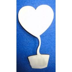 Топиарий Сердце, заготовка для декорирования фанера 3мм, 17см NK
