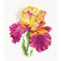 Ирис, набор для вышивания крестиком, 10х12см, 20цветов Алиса