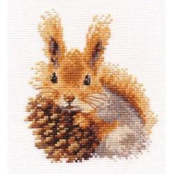 Белочка, набор для вышивания крестиком, 11х12см, 15цветов Алиса