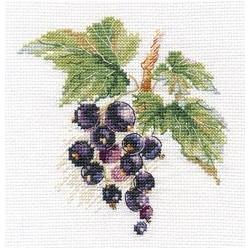 Черная смородина, набор для вышивания крестиком, 11х11см, 16цветов Алиса