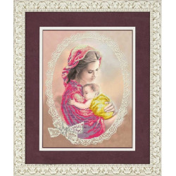Мое дитя, ткань с рисунком для вышивки бисером 27х35см. Благовест