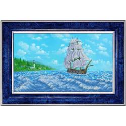 У райских берегов, ткань с рисунком для вышивки бисером 40.5х24см. Благовест
