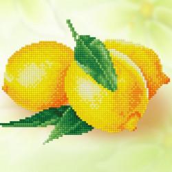 Лимоны, кристальная мозаика 25x25см, частичное заполнение Фрея