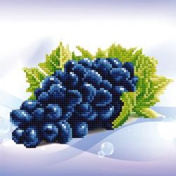 Виноград, кристальная мозаика 25x25см, частичное заполнение Фрея