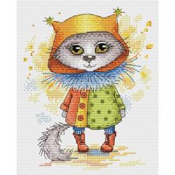 Кошка в сапожках, набор для вышивания крестиком 14х18см, 18цветов Жар-птица