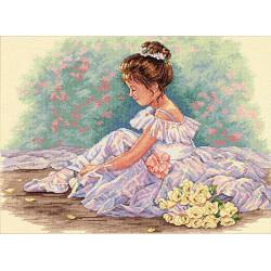 Милая балерина, набор для вышивания крестиком, 8х28см, 14цветов Dimensions