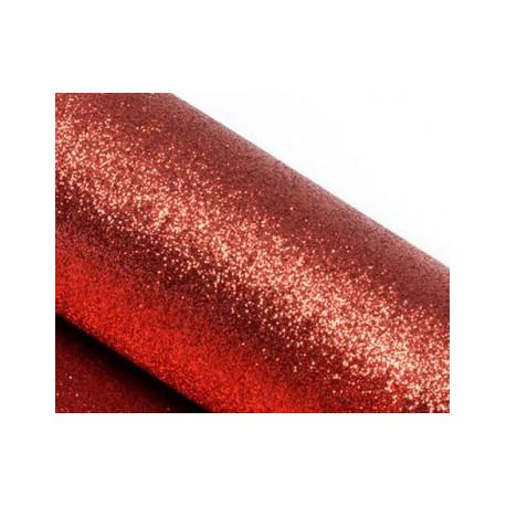 Красный, фоамиран глиттерный 2мм 20*30 см