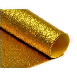 Золото, фоамиран глиттерный 2мм 20*30 см