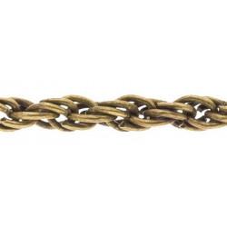 Под бронзу, цепочка декоративная 3мм 1м железо Micron