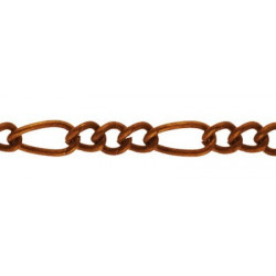 Под медь, цепочка декоративная 2х3, 6.1х2.8мм 1м железо Micron