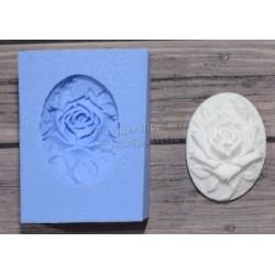 Камея Готическая роза малая, молд силиконовый универсальный. АП