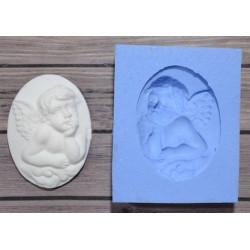 Камея Задумчивый ангел, молд силиконовый универсальный. АП