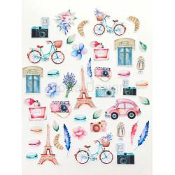 Однажды в Париже, набор высечек для скрапбукинга 43шт. MoNa design