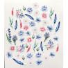 Цветы коллекция Однажды в Париже, набор высечек для скрапбукинга 52шт. MoNa design