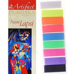 Lapsi Neon. набор полимерной глины 9 флуорисцентных цветов 9х20гр. Artifact