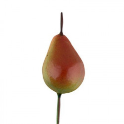 Груша зеленая на веточке, декоративный элемент для флористики 2,5х2,6см, 6шт. Blumentag
