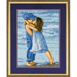Первая любовь, ткань с рисунком для вышивки бисером 27х39,5см. Благовест