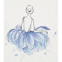 Балерина. Лотос, набор для вышивания крестиком, 20х20см, 12цветов Panna