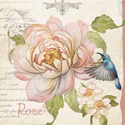 Роза в саду, бумага рисовая для декупажа, 32х45 см. Love2Art