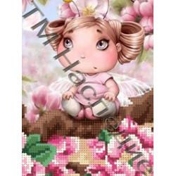 Фея яблони, ткань с рисунком для вышивания бисером 16х12 см 13цв. Наследие