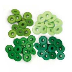 Зеленый, набор люверсов широкие 0,5мм,40шт We R Memory Keepers