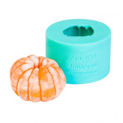 Мандарин очищенный, 3D силиконовая форма для мыла