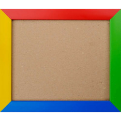 Рамка пластиковая с оргсеклом 13х16см разноцветная