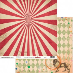 На арене Старый цирк, лист двусторонней бумаги 30х30см, 190гр/м