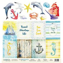 Cards1 из коллекции Sea party, лист односторонней бумаги 30х30см, 190гр/м MoNa design