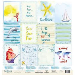 Cards 2 из коллекции Sea party, лист односторонней бумаги 30х30см, 190гр/м MoNa design