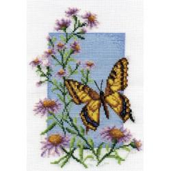 Махаон, набор для вышивания крестиком, 13х19см, 19цветов Panna