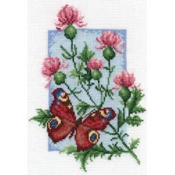 Павлиний глаз, набор для вышивания крестиком, 13х19см, 22цвета Panna