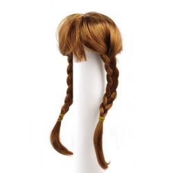 Каштан, косички, волосы для кукол П80
