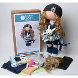 Кира, набор для шитья куклы 35см. Pugovka Doll