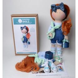Оля, набор для шитья куклы 35см. Pugovka Doll