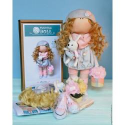 Лили с зайкой, набор для шитья куклы 35см. Pugovka Doll
