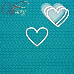Сердце, шейкер 7х6см CraftStory