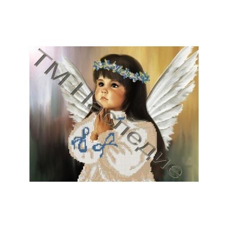 Ангелочек, набор для вышивания бисером 32,5х26см Наследие