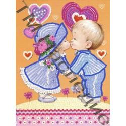 Пара, ткань с рисунком для вышивания бисером 16х12см 8цв. Наследие