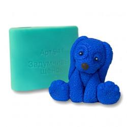 Задумчивый щенок, 3D силиконовая форма для мыла