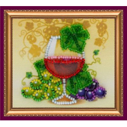 Бокал вина, набор-магнит для вышивки бисером, 8х7см, 7цветов АбрисАрт