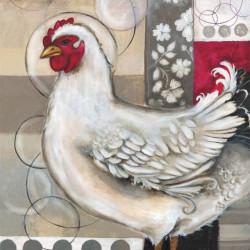 Романтическая курица, декоративная наволочка на подушку 39х39см холст, Матрёнин посад